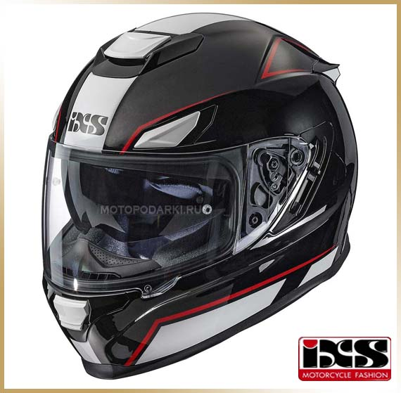 Шлем интеграл<br>IXS HX315 2.1 Black White-Red