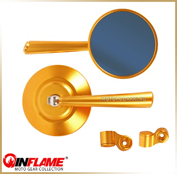 Зеркала круглые<br>INFLAME CNC-057GL, gold