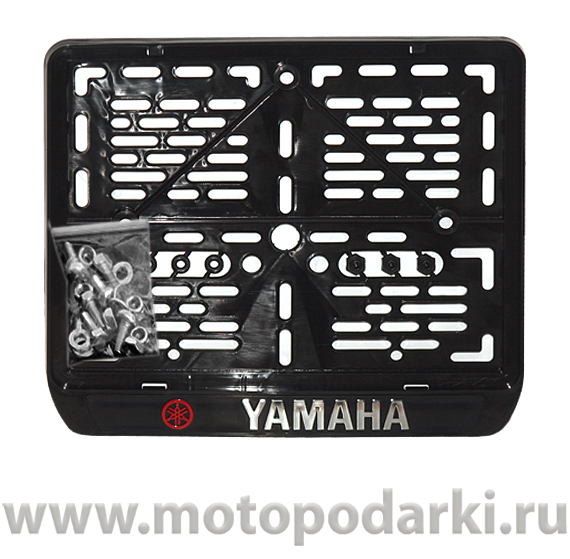 Рамка для мотоцикла LICENSE PLATE LOGO YAMAHA черный