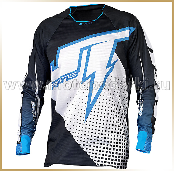 JT Racing<br>Футболка мотокросс<br>HYPERLITE VOLTAGE Black-White