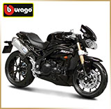 BURAGO 1:18<br>Модель мотоцикла<br>TRIUMPH 1050 Speed Triple