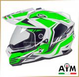 Мотошлем эндуро<br>AiM JK802 WHITE GREEN