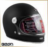 Шлем интеграл BEON<br>Vintage F1 SHINY matt black