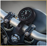 Часы на руль мотоцикла<BR>Handlebar Clock Black