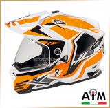 Мотошлем эндуро<br>AiM JK802 WHITE ORANGE