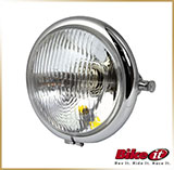 Фара круглая Ø155mm<br>BATES HEADLIGHT, chrom