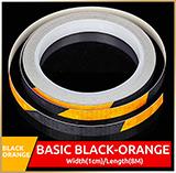 Светоотражающая лента<br>REFLECTIVE Black-Orange