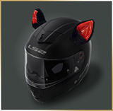 Уши на мотошлем<br>*CAT EARS* black-red