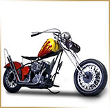 Модель мотоцикла металл<br>HAND MADE Chopper #11