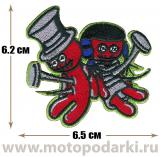 Нашивка знак<br>Patch Voodoo Luv 6.5см
