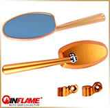 Зеркала мотоцикла<br>INFLAME CNC-055GL, gold