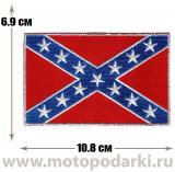 Нашивка флаг CONFEDERATE Flag 10,8см