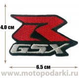 Нашивка логотип<br>Patch GSX-R SUZUKI 6.5см
