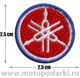Нашивка логотип<br>Patch Yamaha logo 2.5см