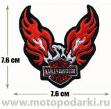 Нашивка мото<br>Patch Eagle of Harley 7.6см