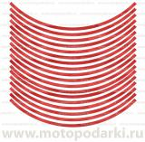 Наклейка на диск<br>ORALITE® GERANIUM RED CARBON 17&quot;