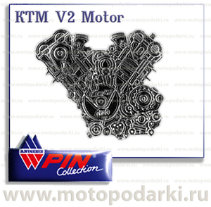 PinCollection значок KTM V2 Motor