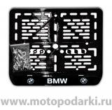 Рамка для мотоцикла<br> LICENSE PLATE BMW черный