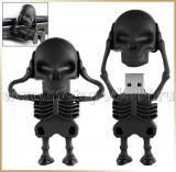Флешка скелет 4GB-8GB<br>USB-FLASH SKELETON Black