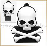 Флешка череп 4GB-16GB<br>USB-FLASH SKULL White