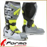 Кроссовые мотоботы FORMA<BR> TERRAIN TX GREY/WHITE/YELLOW FLUO