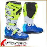Кроссовые мотоботы FORMA<BR> TERRAIN TX YELLOW FLUO/WHITE/BLUE
