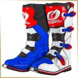 Мотоботы кроссовые<br>ONEAL RIDER BOOT White/Blue/Red
