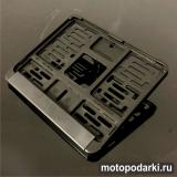 Рамка номера мотоцикла<br>*MOTO BLACK* 190х145