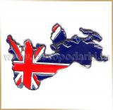 Наклейка металл 7.0см<br>METAL STICKER 3D England