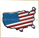 Наклейка металл 7.0см<br>METAL STICKER 3D USA