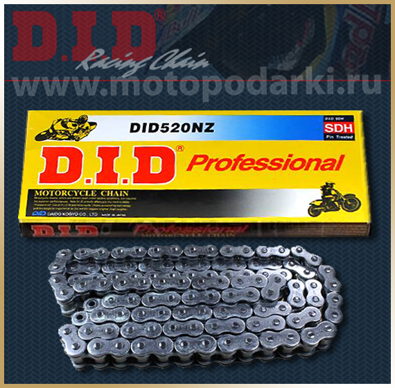 D.I.D 520NZ Super Non O-Ring<br>цепь для мотоцикла
